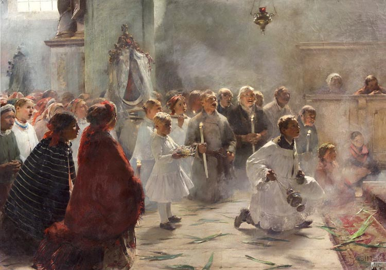 """Zdzisław Piotr Jasiński """"Niedziela Palmowa"""", 1891"""